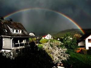 CIMG9213 Regenbogen über Netphen-Grissenbach am 6.5.2015 - Kopie